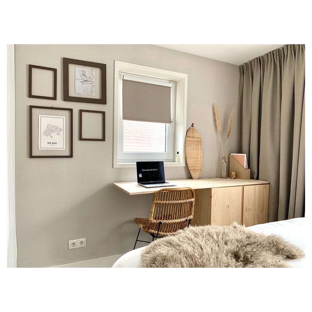 Interieur werkplek slaapkamer