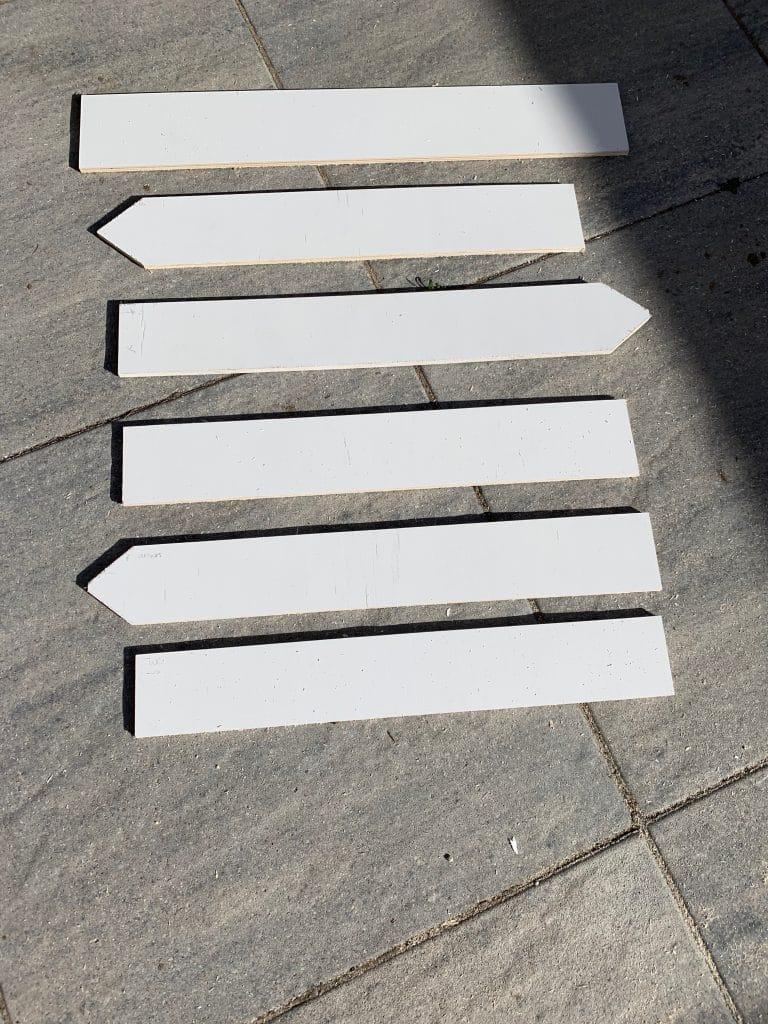 Pijlen voor de DIY wegwijzer