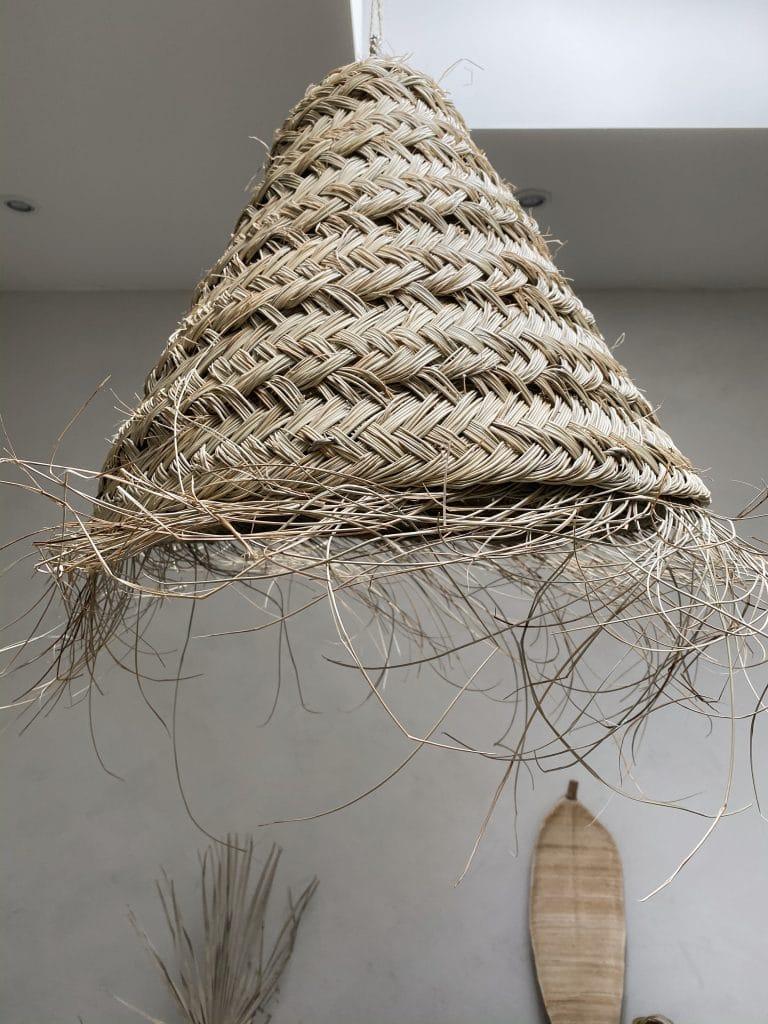 Zeegras hanglampen kap herfst interieur bohemian
