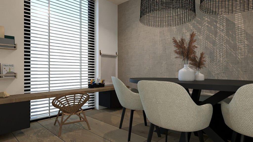 Speelhoek in de woonkamer - interieurontwerp - Kelly Interieurdesign