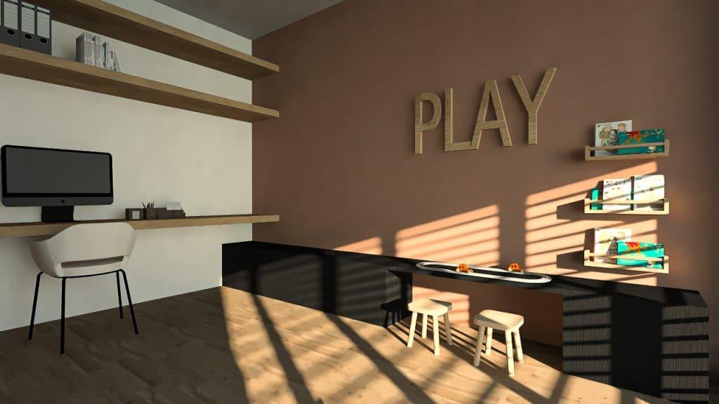Speelhoek - kantoor - ontwerpstudio KELLY